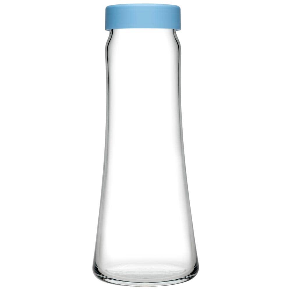 Karafka do wody Basic 1 l z niebieską zakrętką PASABAHCE
