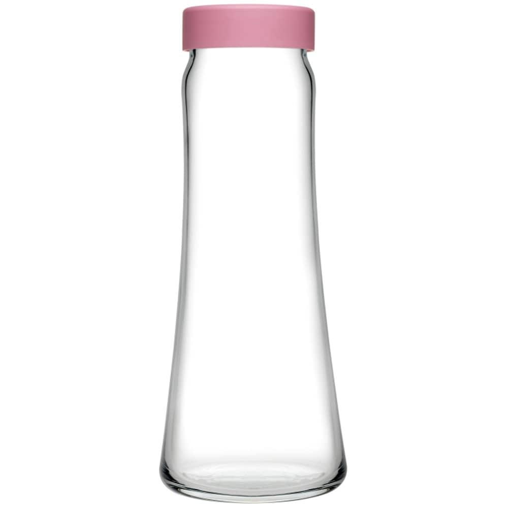 Karafka do wody Basic 1 l z różową zakrętką PASABAHCE