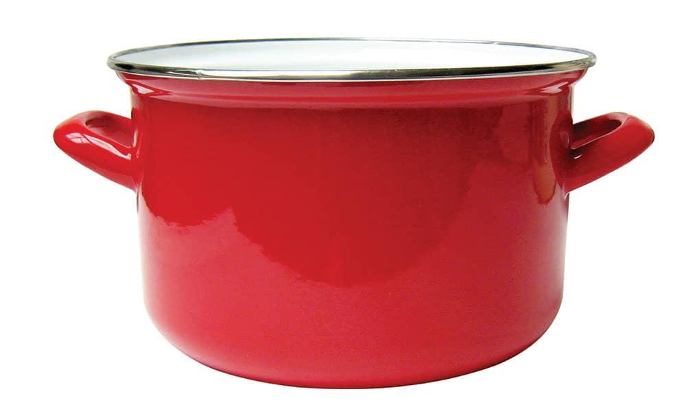Smaltovaný hrnec Vigo Red 16 cm DOMOTTI