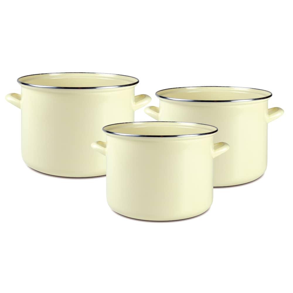 Set de ollas esmaltadas Vigo 3 piezas DOMOTTI
