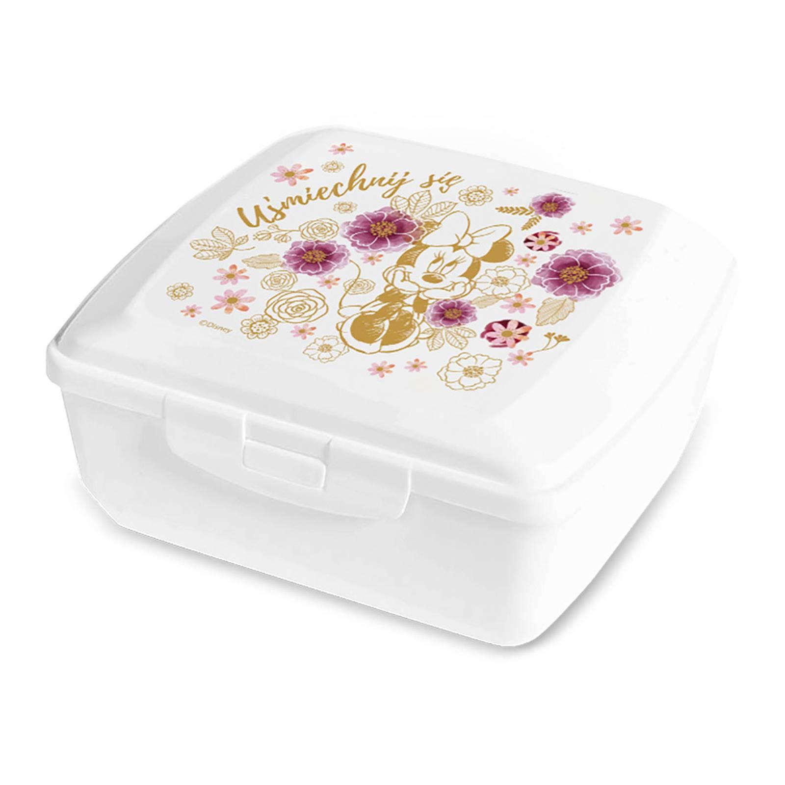Svačinový box Minnie Flowers Gold 14,5 x 13 cm PL NÁPISY DISNEY