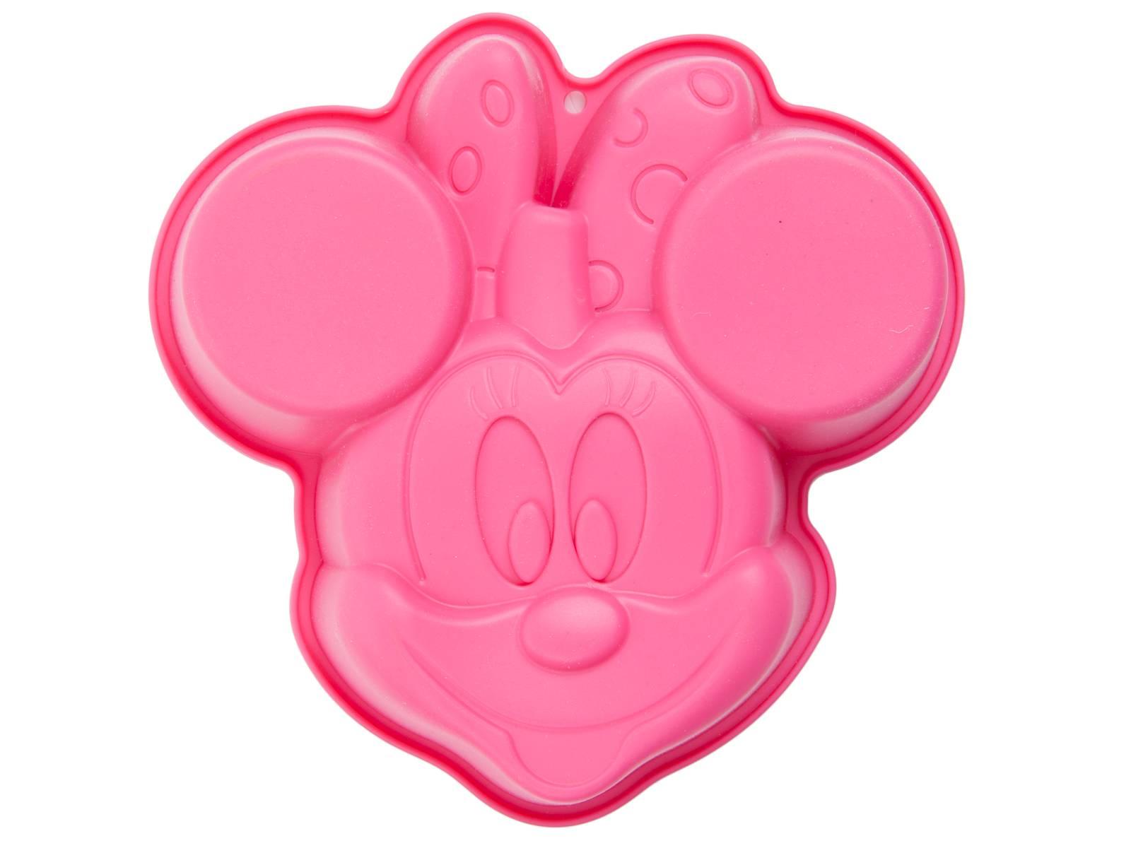 Silicone mold Minnie 19,5 x 19 cm pink DISNEY