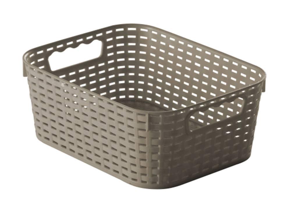 Förvaringskorg Rattan 28 x 22 x 11 cm grå JOTTA
