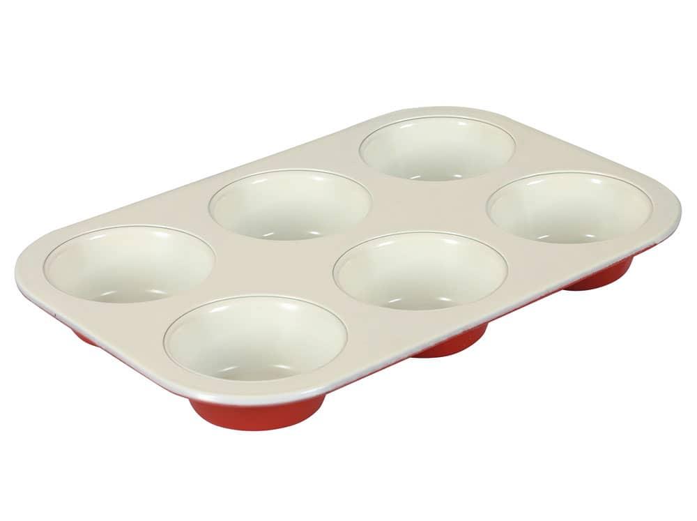Forma do pieczenia Fusion Fresh Red na 6 muffinów z powłoką ceramiczną AMBITION