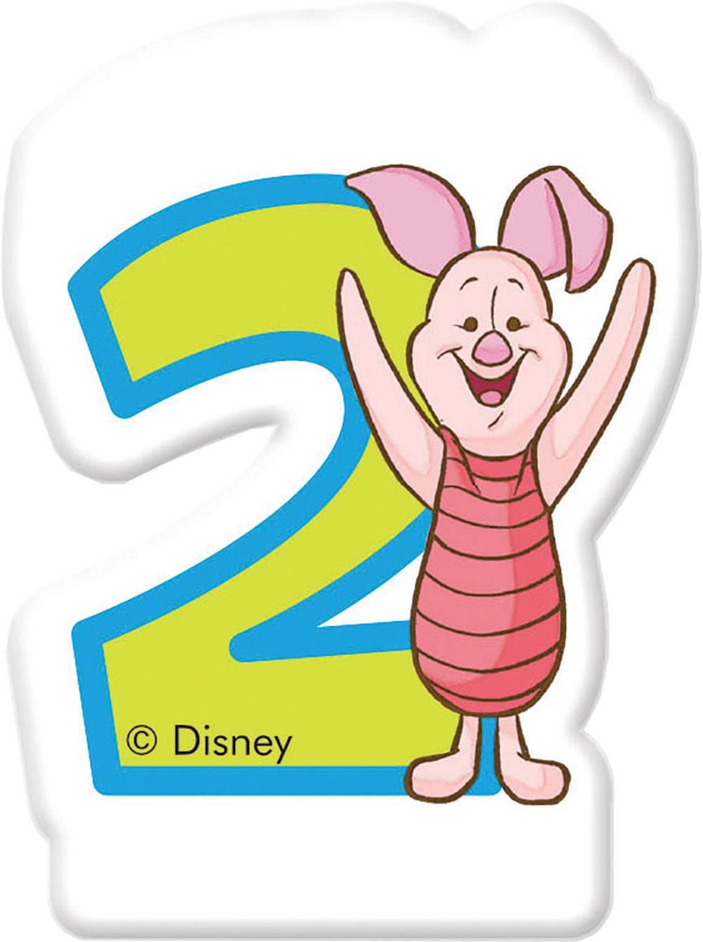 Bougie d'anniversaire 2 Winnie et amis DISNEY