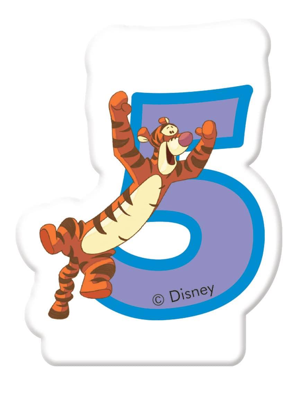 Bougie d'anniversaire 5 Winnie est ses amis DISNEY
