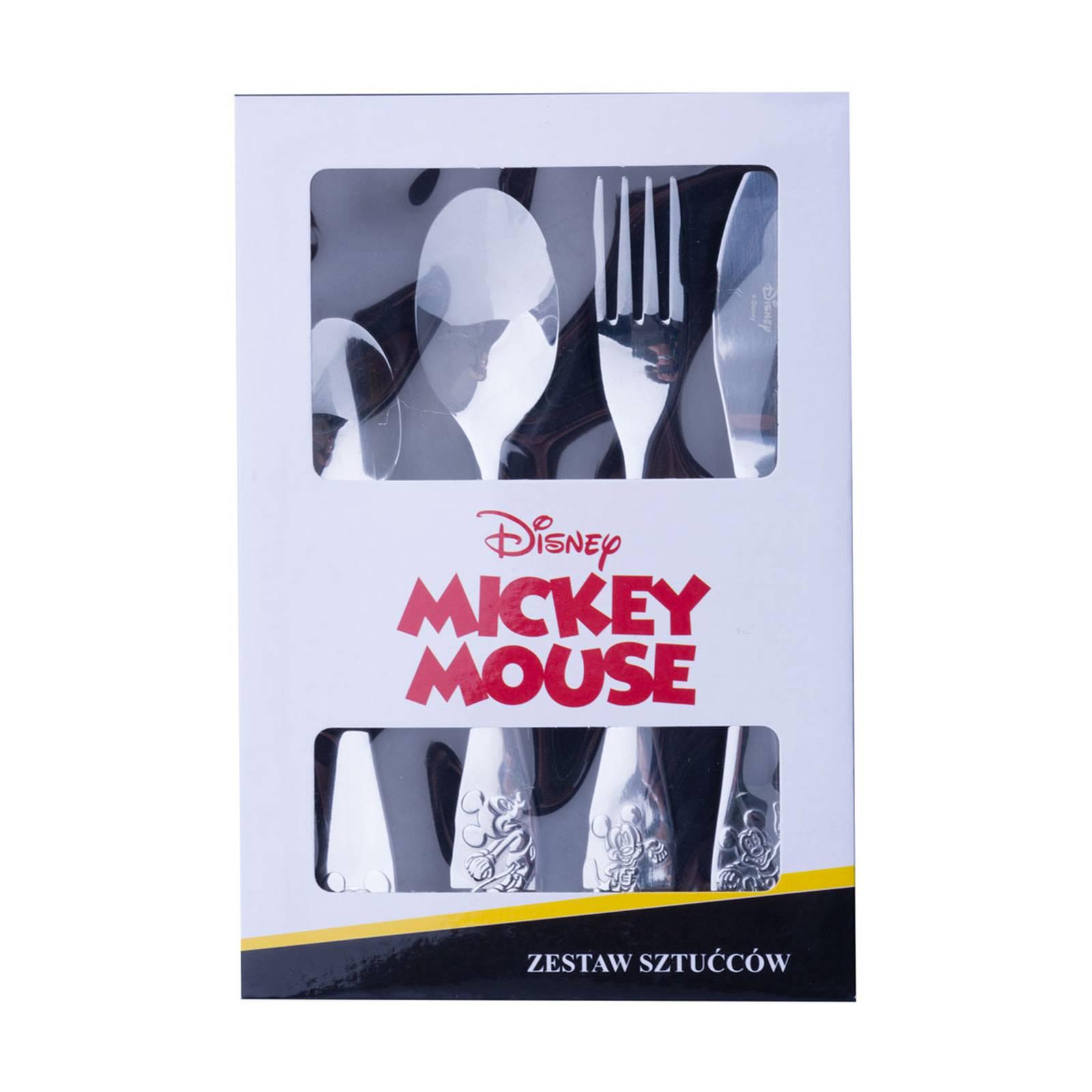Sada dětských nerezových příborů Mickey Everywhere 4-díly DISNEY