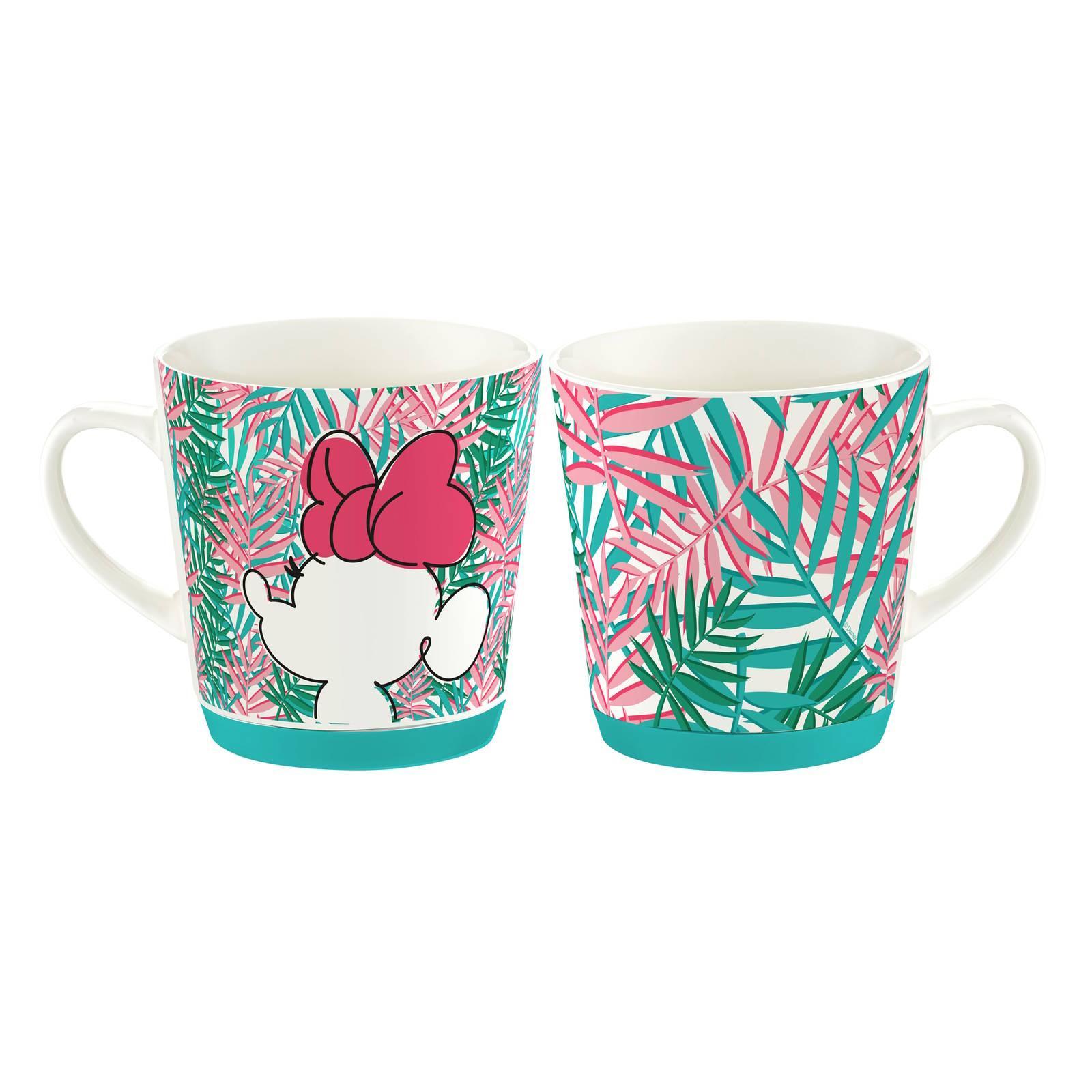 Porzellan Becher  Minnie Tropical 320 ml Palmblatt DISNEY / AMBITION