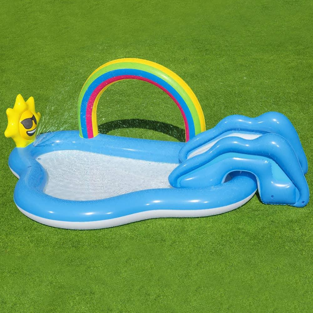 Nafukovacia kĺzačka s bazénom Rainbow 257 x 145 x 91 cm BESTWAY