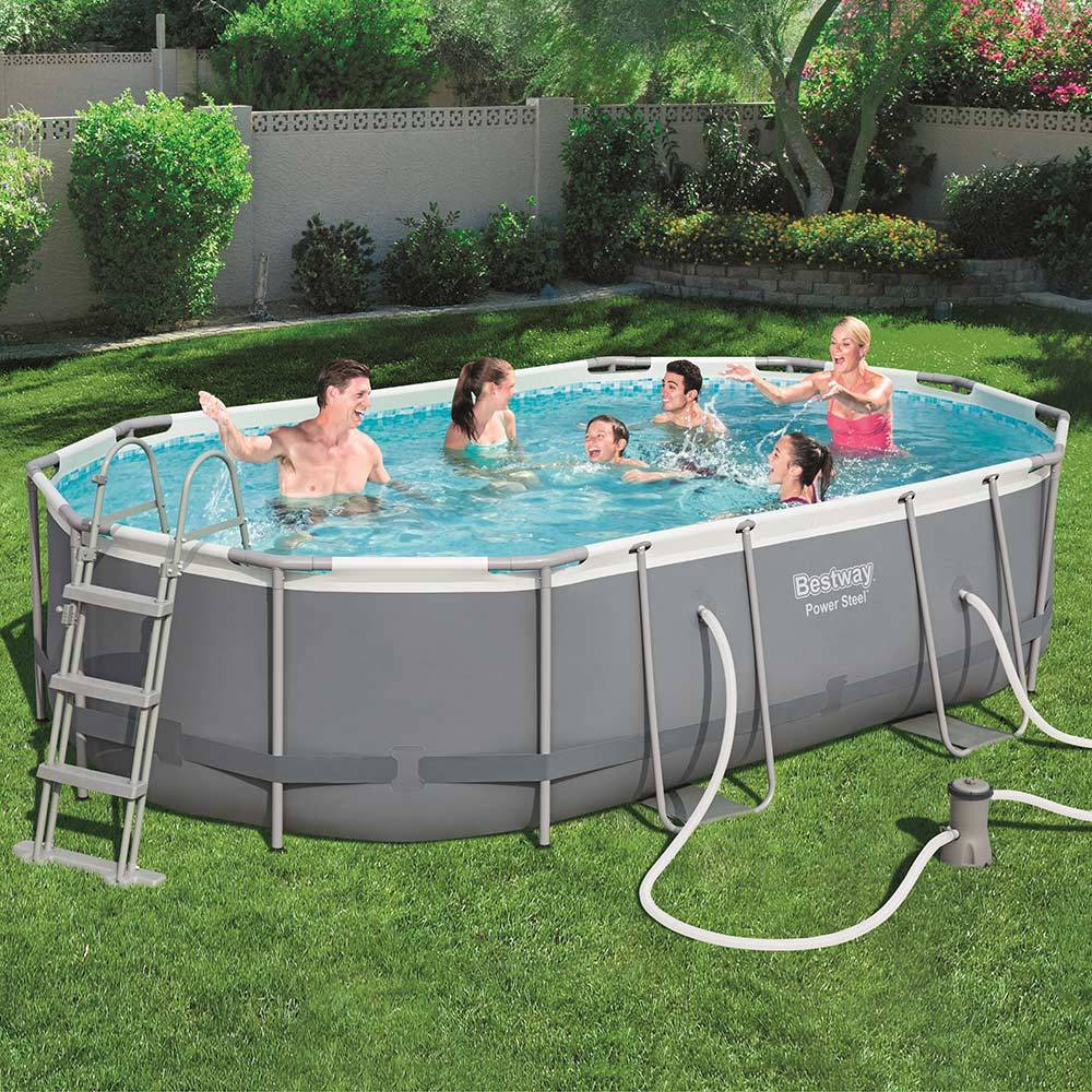 Nadzemný bazén s príslušenstvom Power Steel 488 x 305 x 107 cm 10949 l BESTWAY