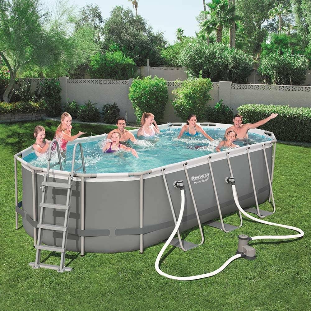 Nadzemný bazén s príslušenstvom Power Steel 549 x 274 x 122 cm 13430 l BESTWAY