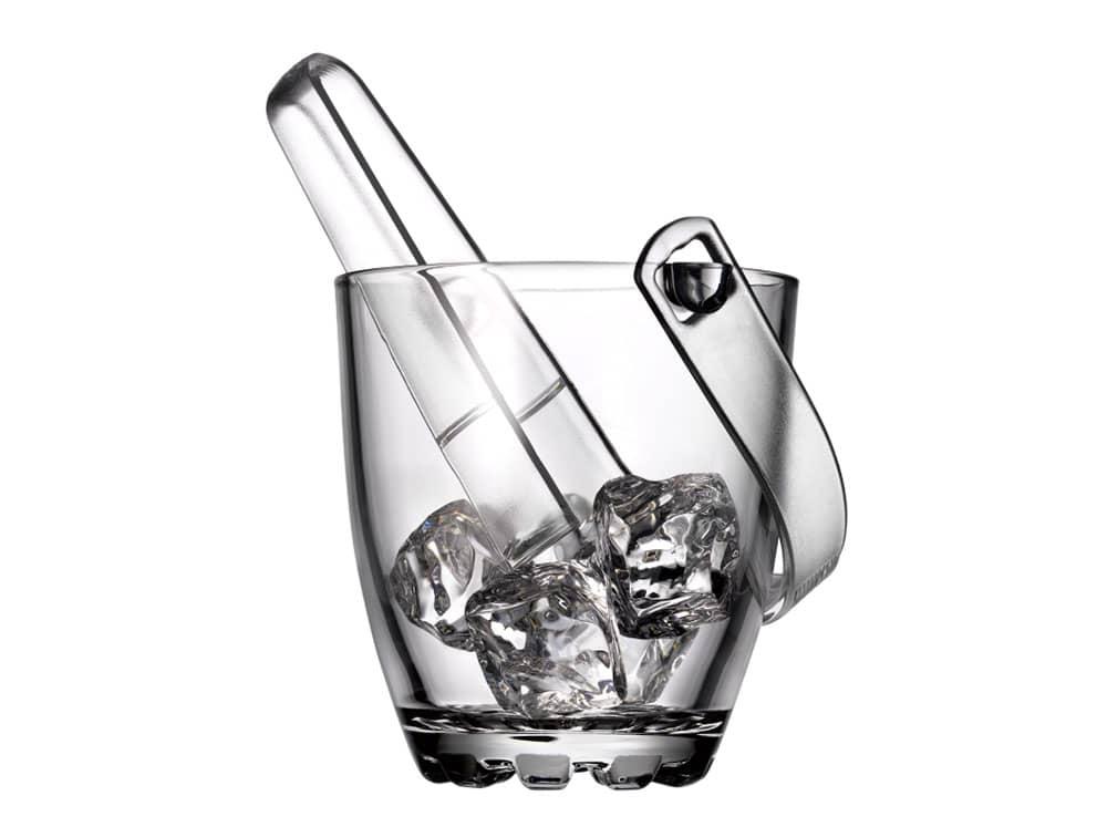 Wiaderko do lodu Sylvana z uchwytem i szczypcami 800 ml PASABAHCE