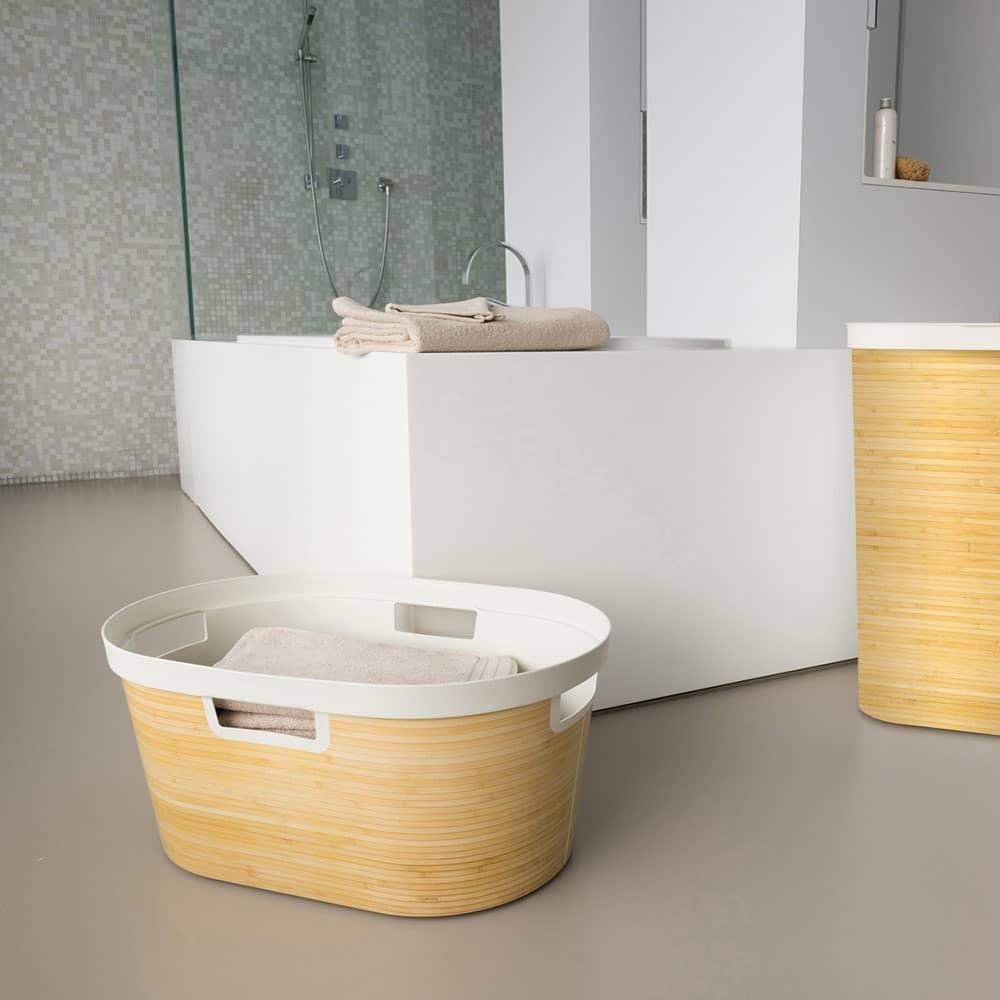 Tvättkorg Infinity 45 L bambu CURVER