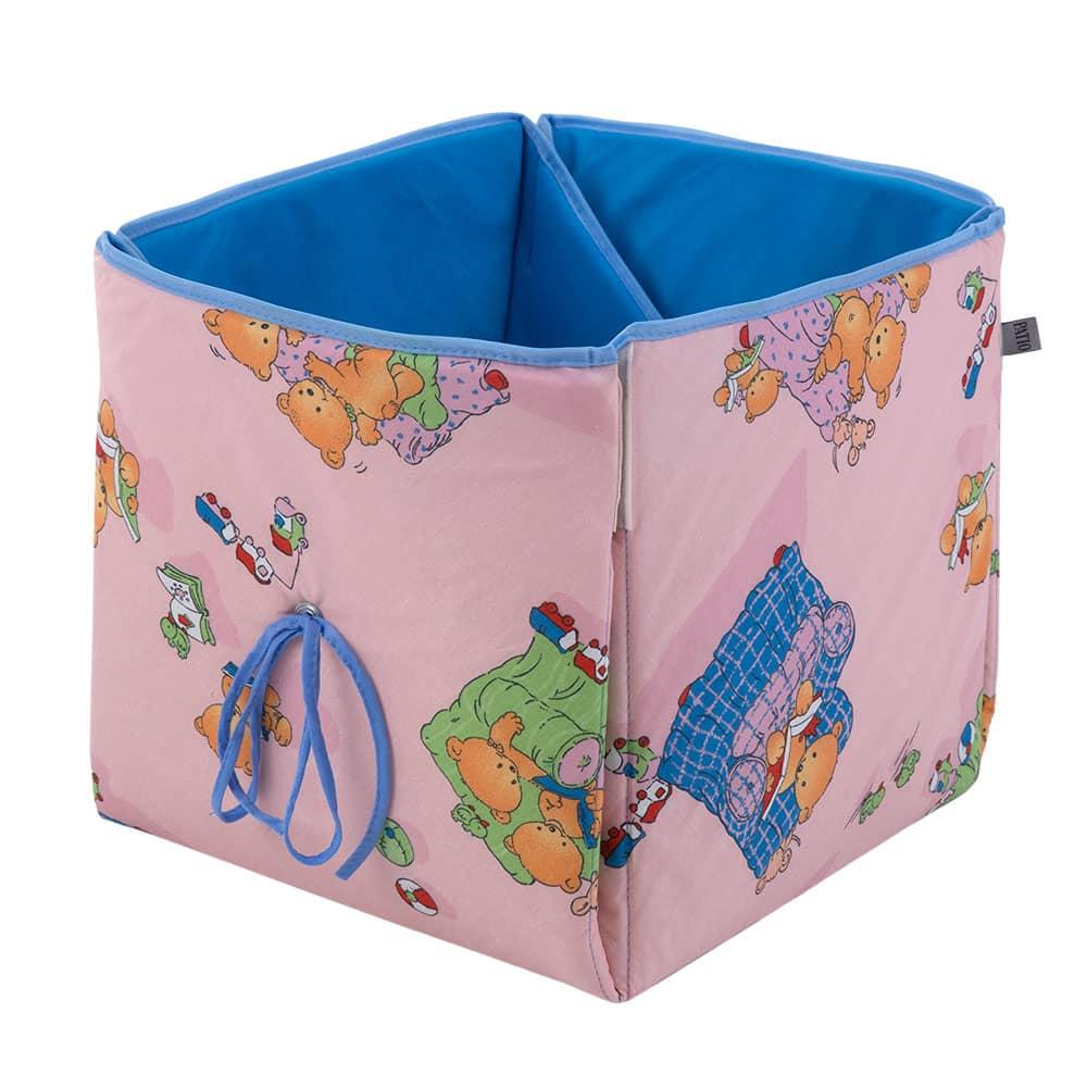 Cesta para juguetes/colchoneta alfombra Ositos L069-11BW 33 x 33 x 33 cm PATIO