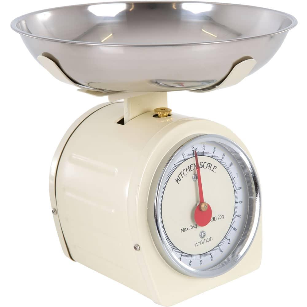 Waga kuchenna kremowa z czerwoną wskazówką 5kg AMBITION