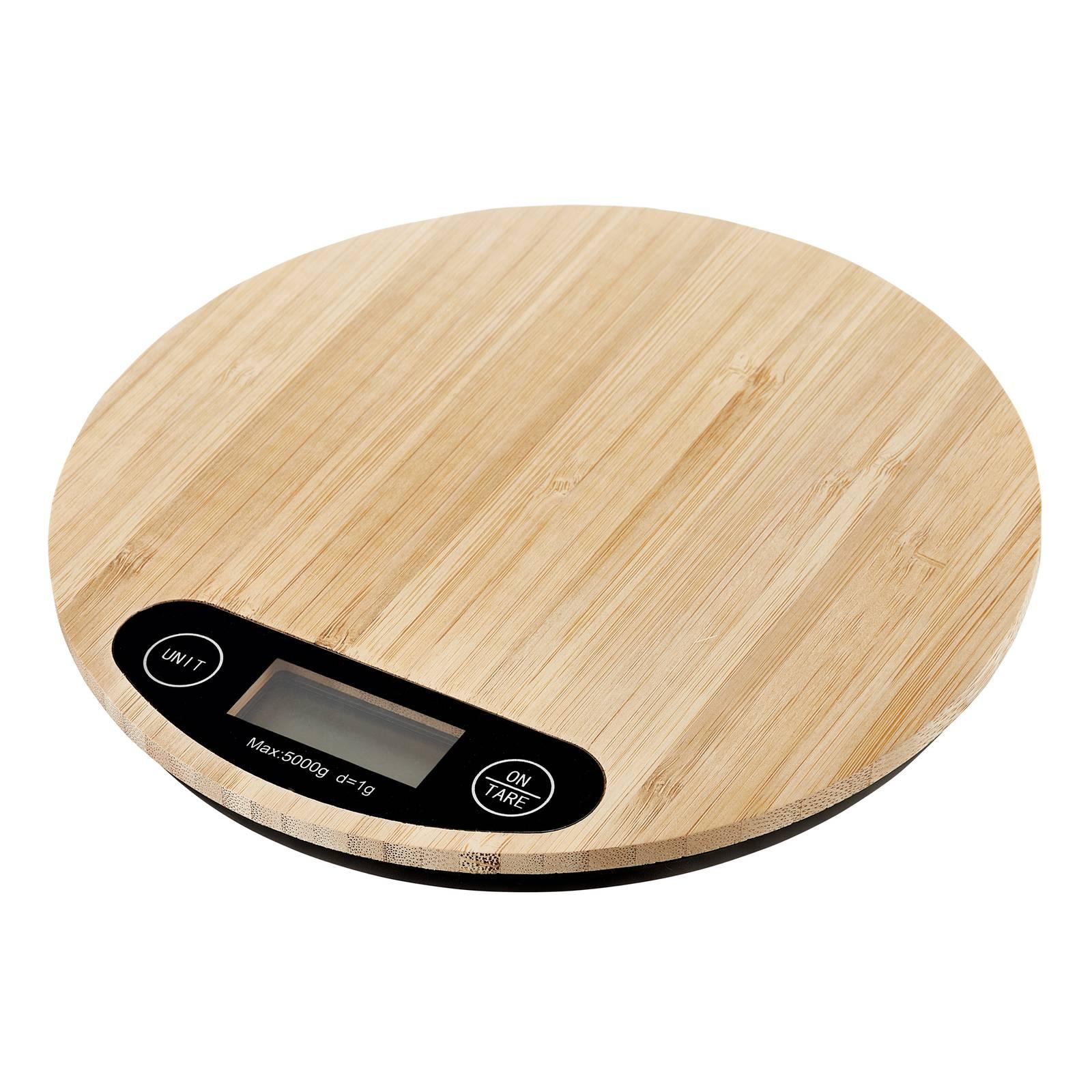 Bambusová kuchynská váha Natural 20 cm AMBITION
