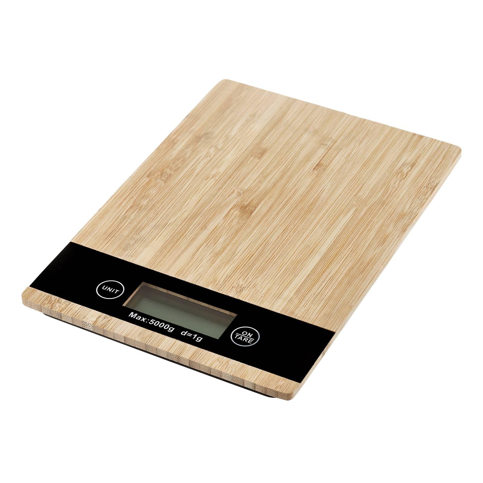 Bambusová kuchynská váha Natural 23 x 16 cm AMBITION