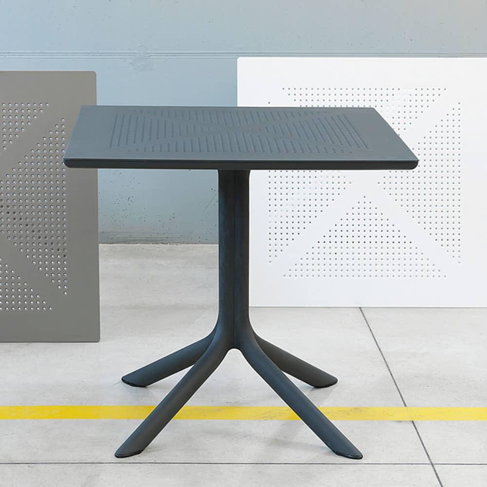 Stół ogrodowy Clip Antracite 80 x 80 cm NARDI