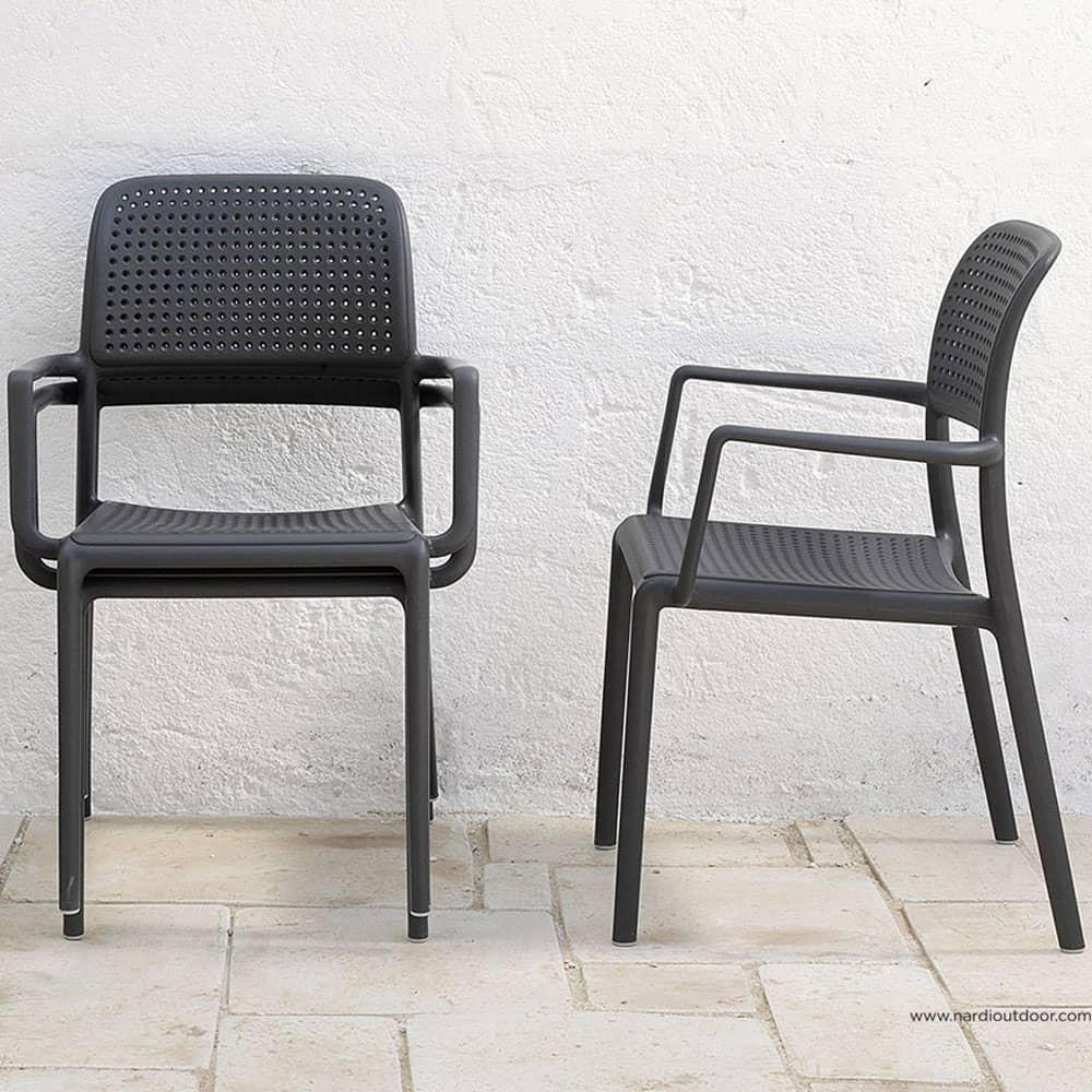 Krzesło ogrodowe Bora Antracite NARDI
