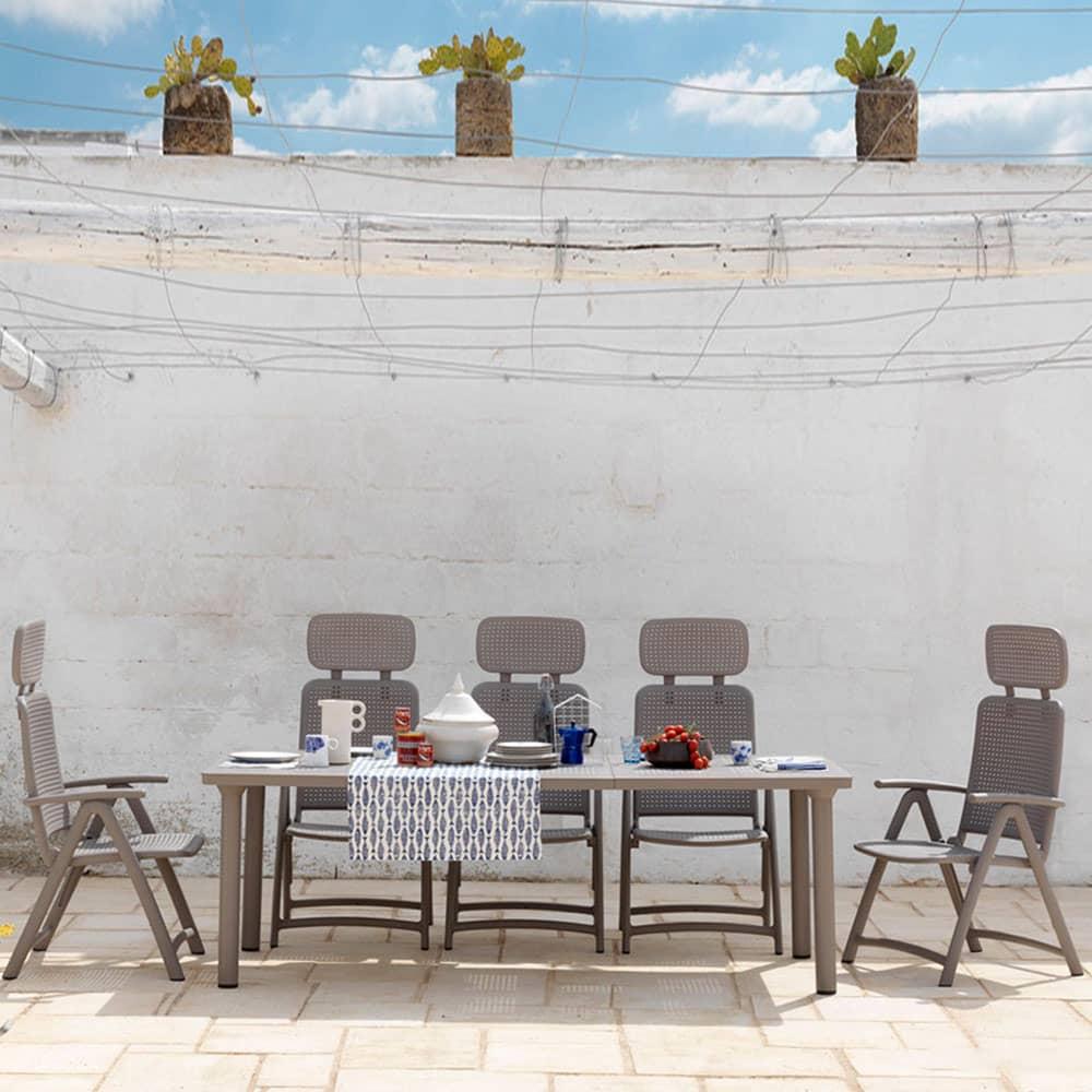 Stół rozkładany Libeccio Tortora 100 x 160/220 x 74 cm NARDI