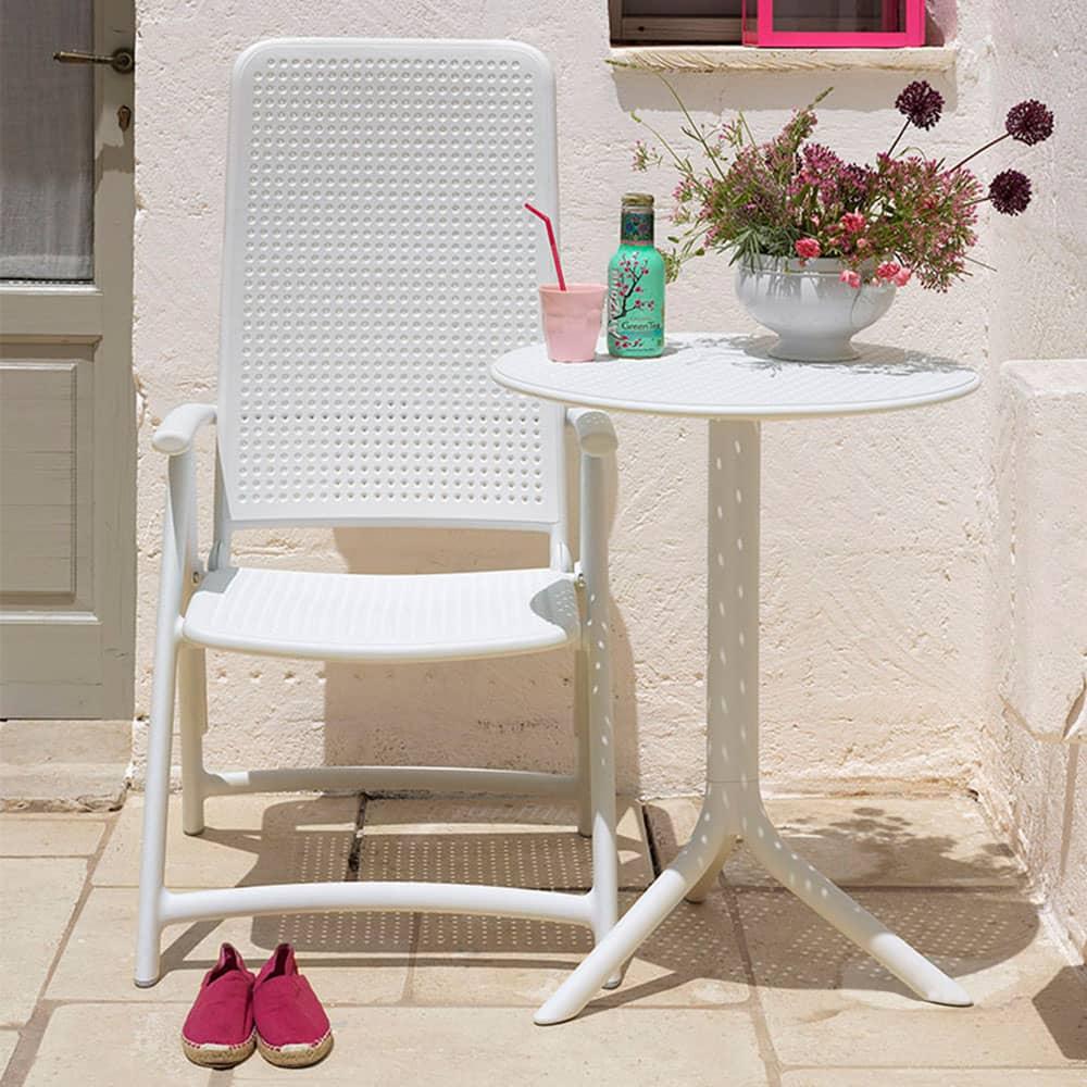 Stół ogrodowy Step Bianco 60,5 cm NARDI