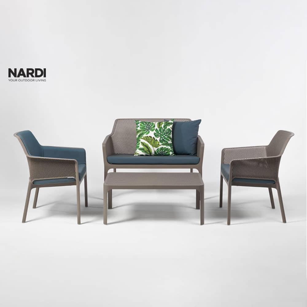 Stół ogrodowy Net Tortora 100 x 60 cm NARDI