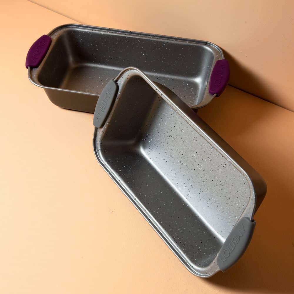 Moule à cake avec poignées en silicone gris Glamour 26 x 15 x 6,5 cm AMBITION