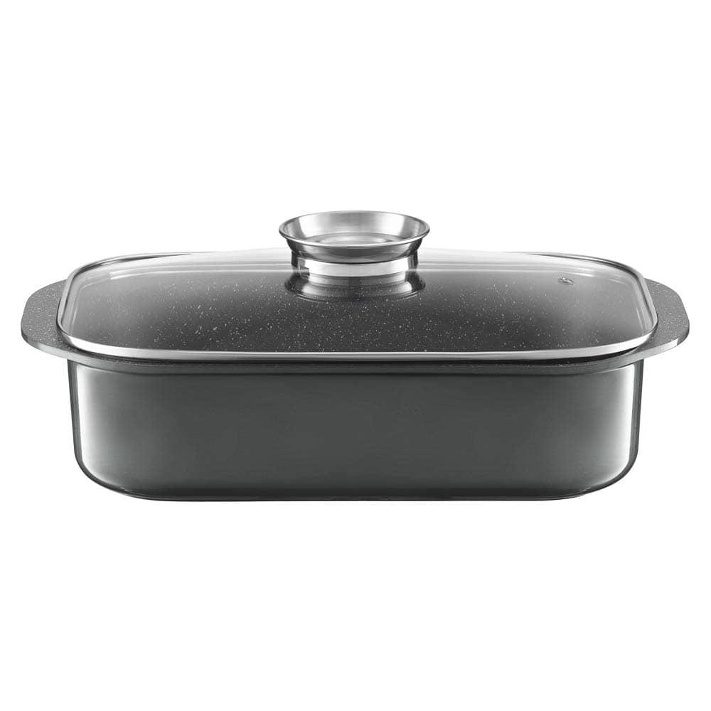 Cocotte avec couvercle Aroma Knob System Glamour gray 40,5 x 25,5 cm AMBITION
