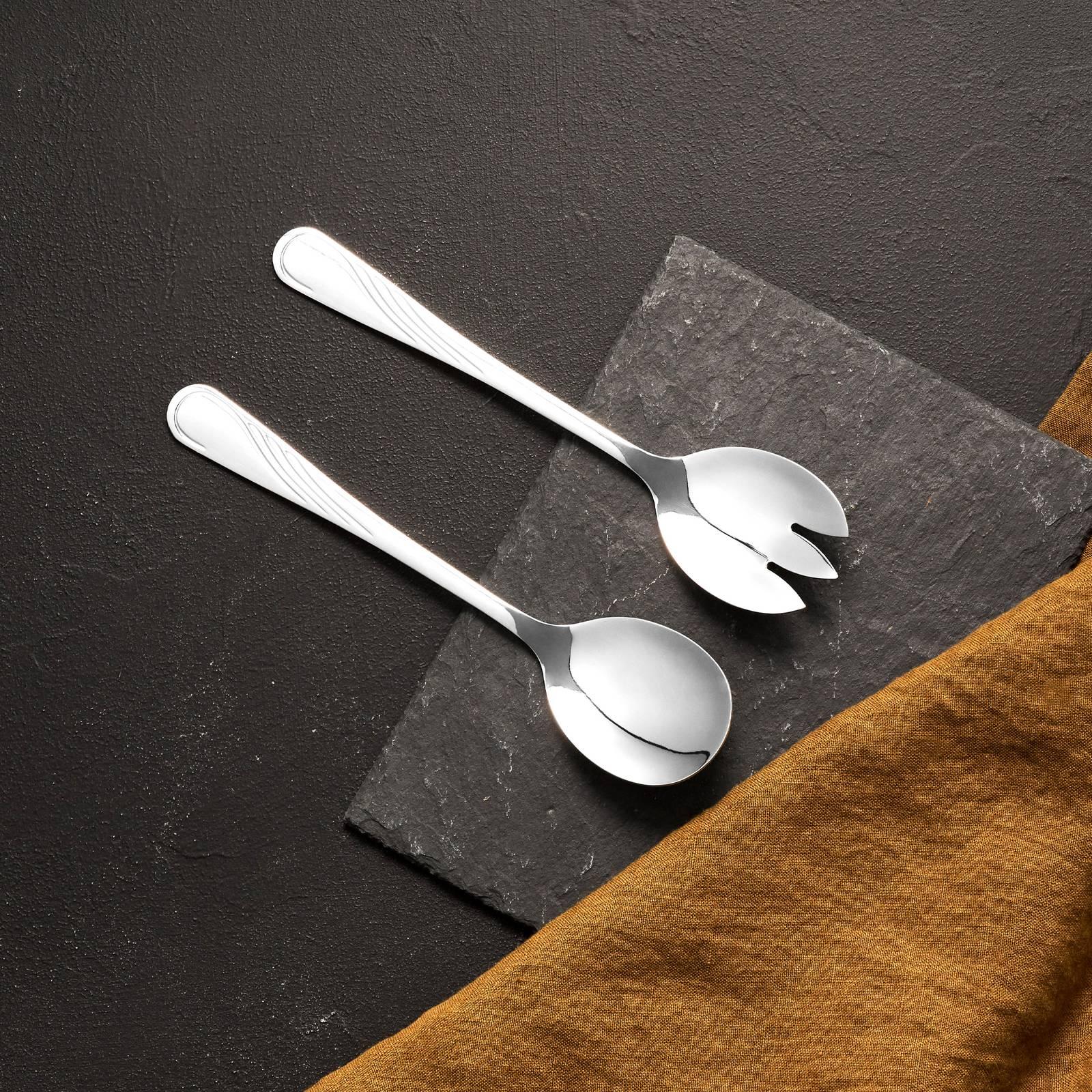 Zestaw do sałaty 2-elementowy średni Napoli łyżka + widelec AMBITION