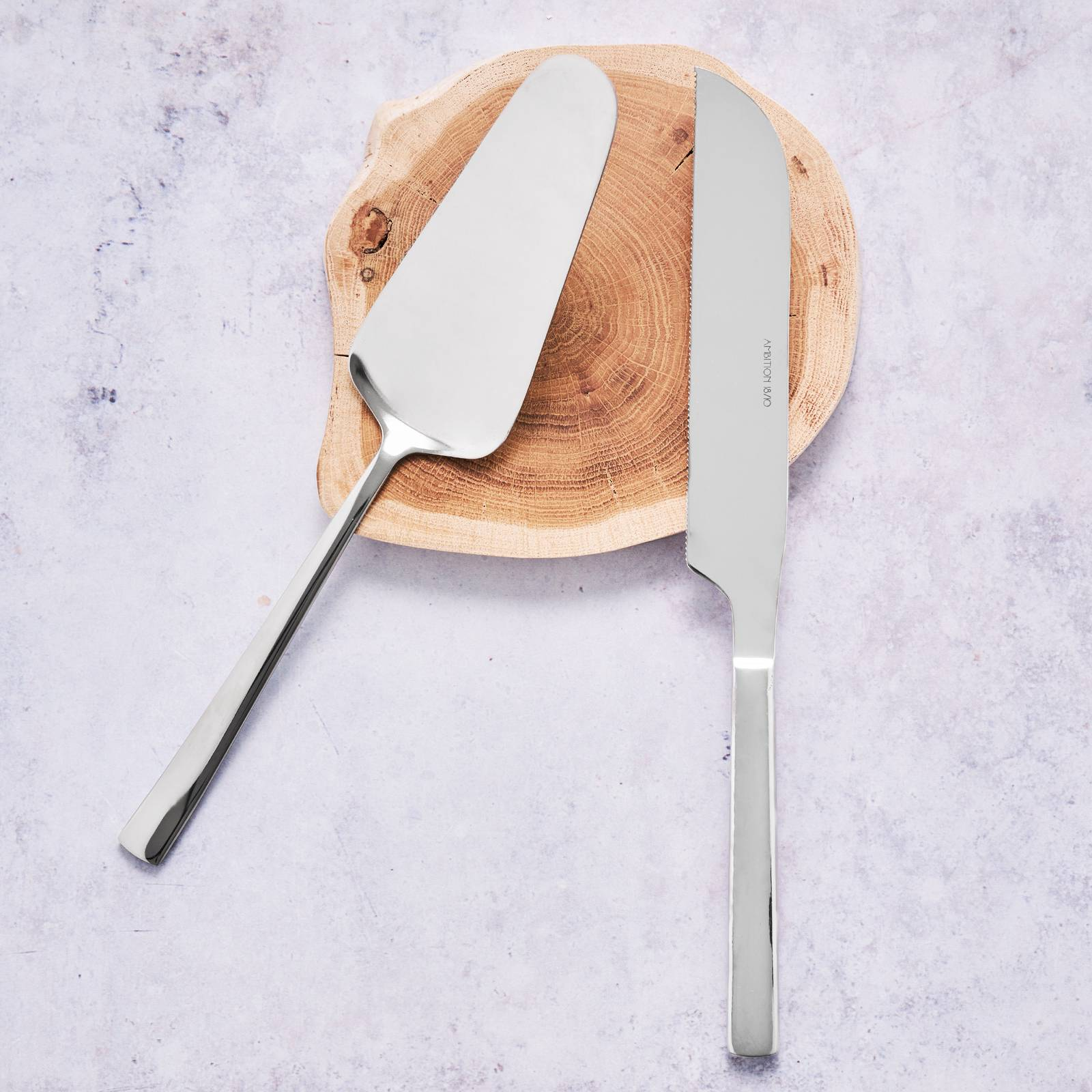 Dezertní sada Prato 2-dielna lopatka + nôž AMBITION