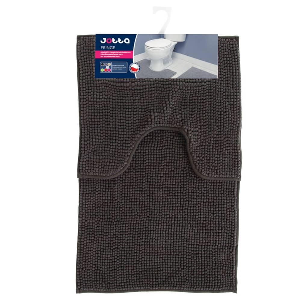 Komplet 2 dywaników łazienkowych Fringe 50x45 cm, 50x80 cm grafit Jotta