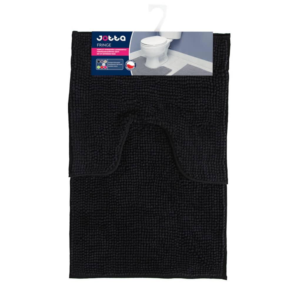 Komplet 2 dywaników łazienkowych Fringe 50x45 cm, 50x80 cm czarny Jotta