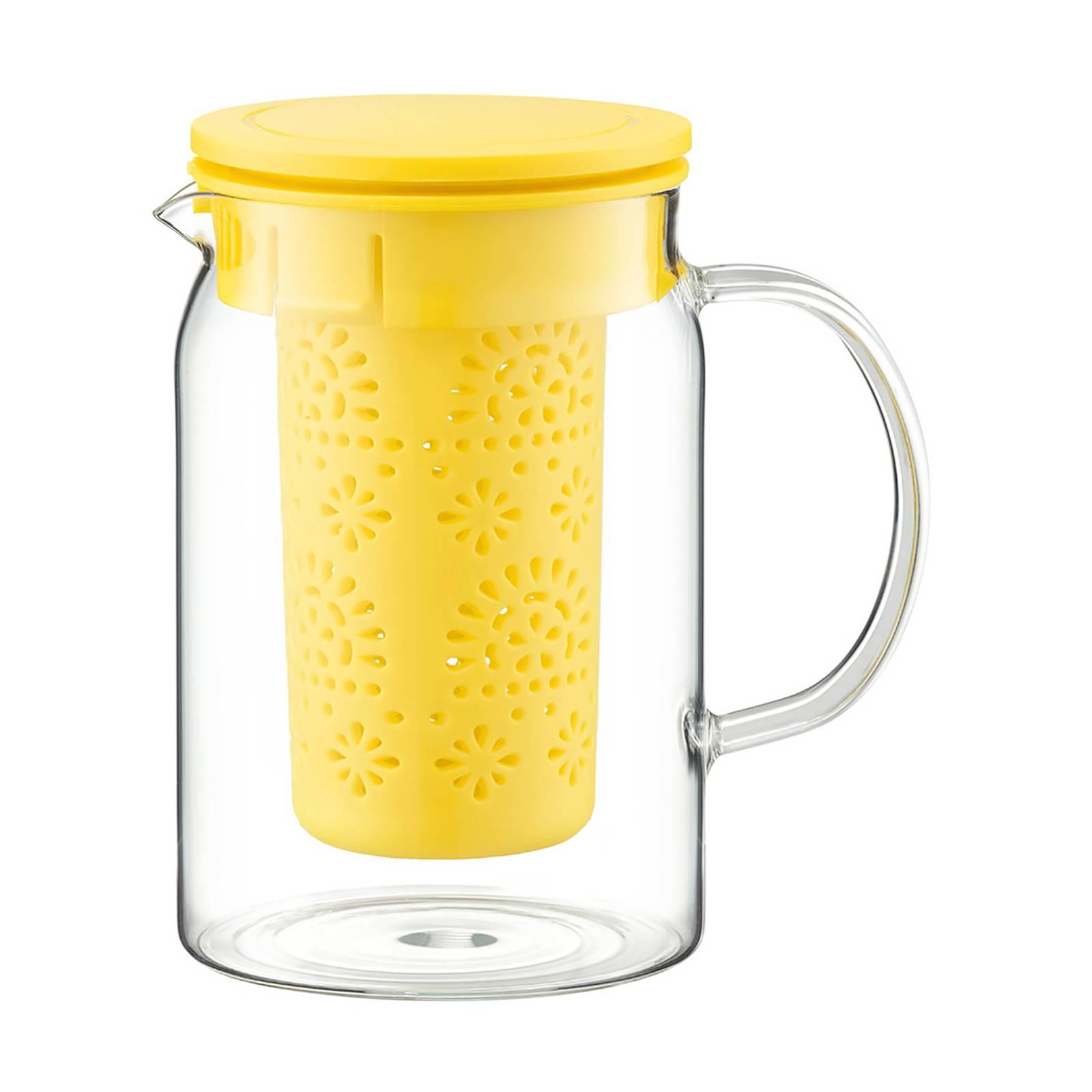 Krug mit Teesieb und Deckel Nordic gelb 1000 ml AMBITION