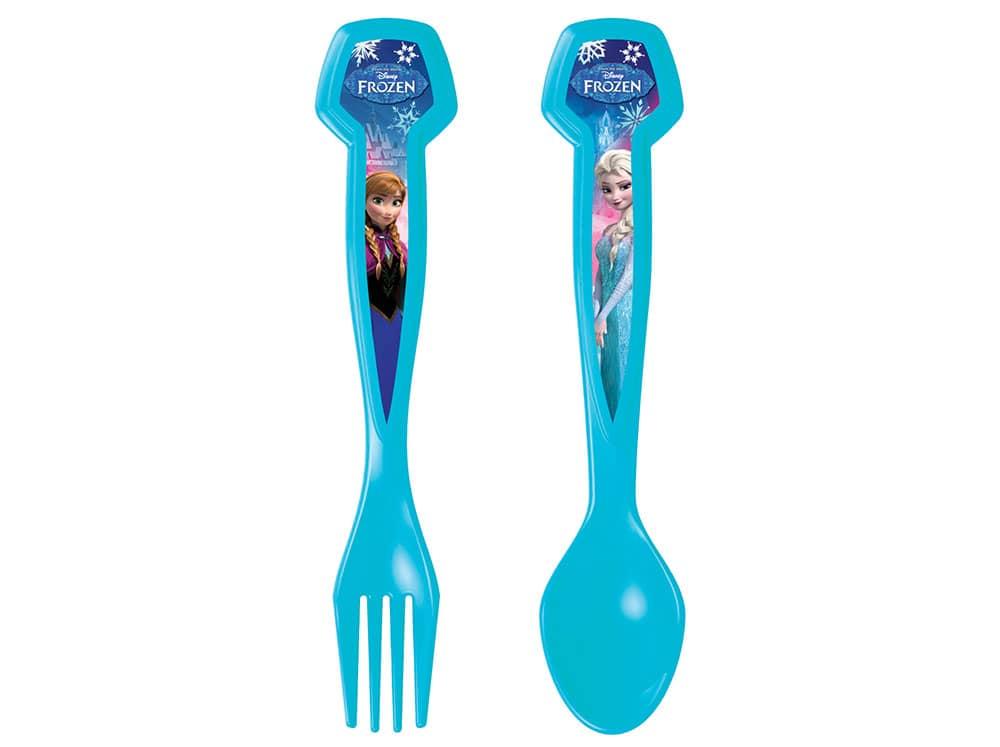 Sada dětských příborů lžíce a vidlička Frozen Blue Shimmer DISNEY