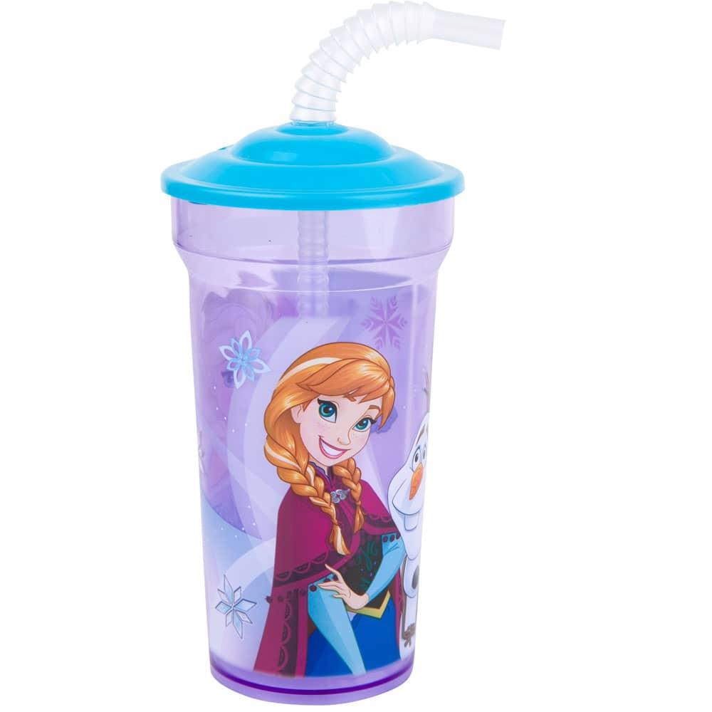 Láhev s brčkem Frozen Glow 350 ml DISNEY