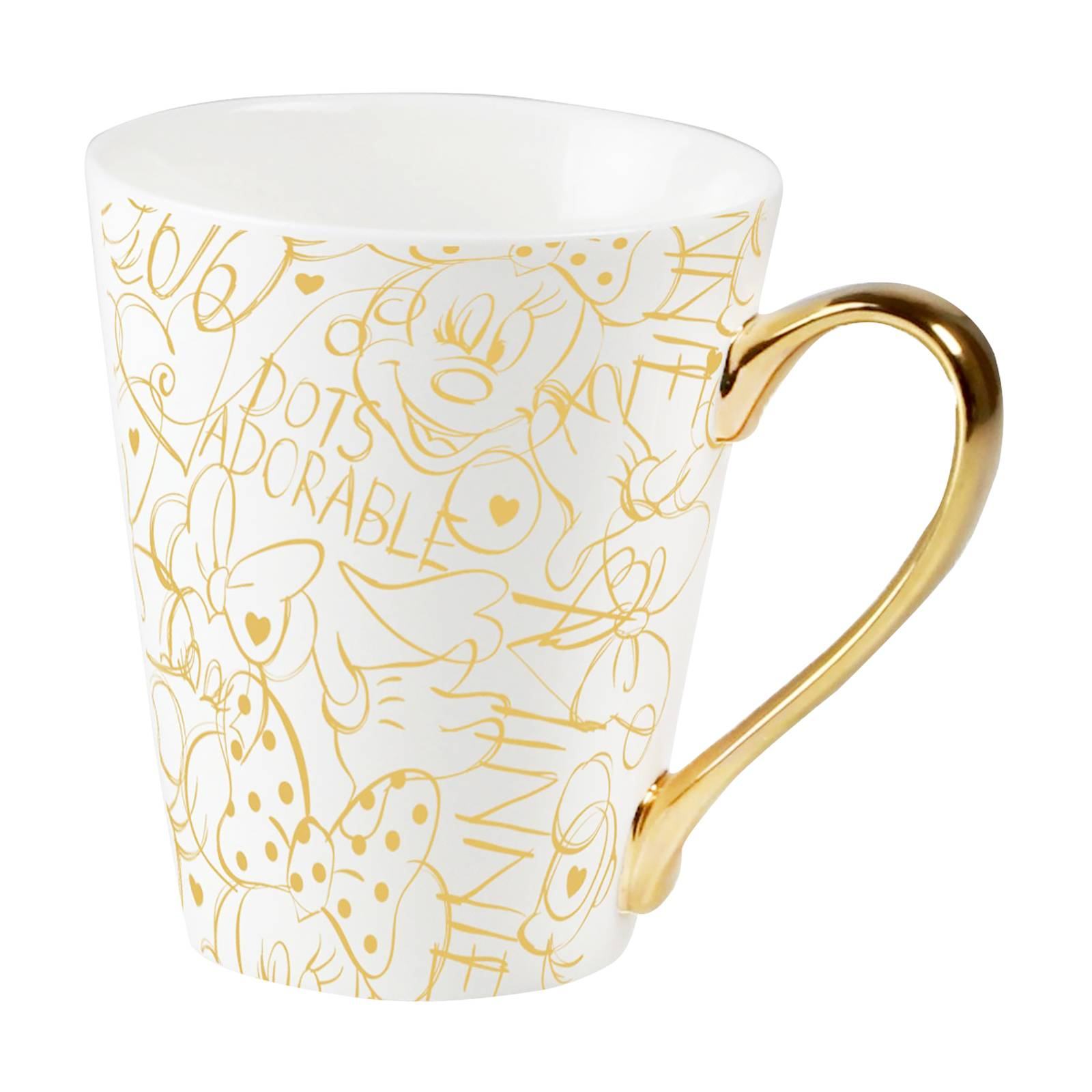 Kubek porcelanowy Minnie Kropki Złoto w ozdobnym opakowaniu 320 ml DISNEY / AMBITION