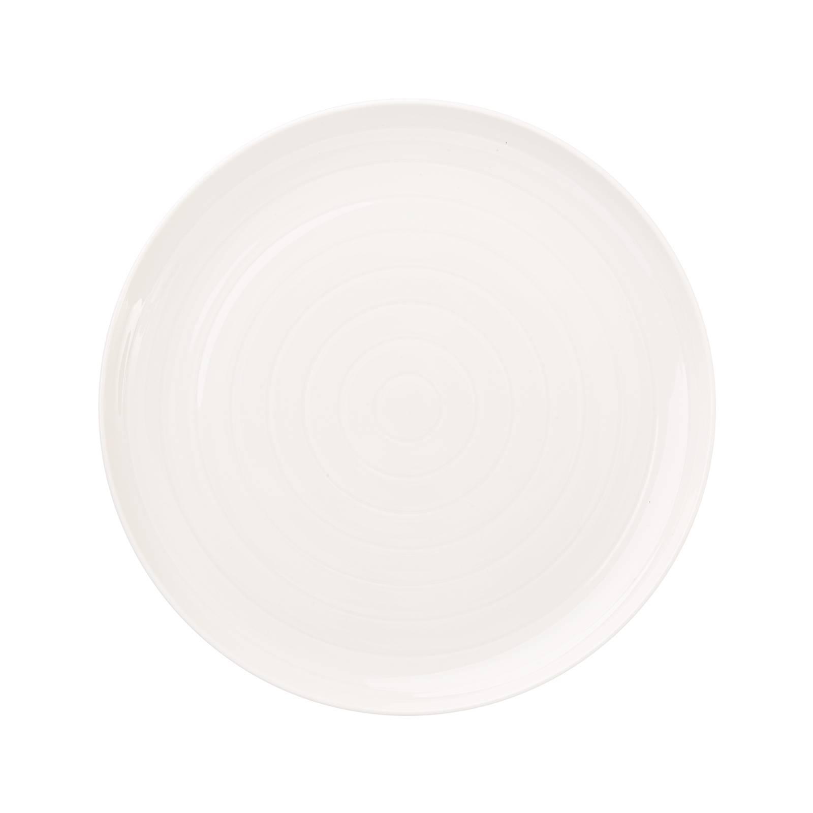 Porcelánový dezertní talíř Piano Cream 21 cm AMBITION