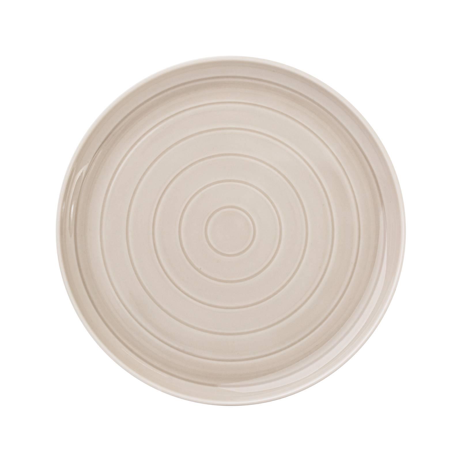 Porcelánový dezertní talíř Piano Gray 21 cm AMBITION