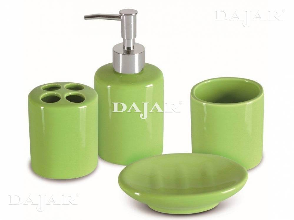 Zestaw łazienkowy 4-elementowy Amelia zielony JOTTA