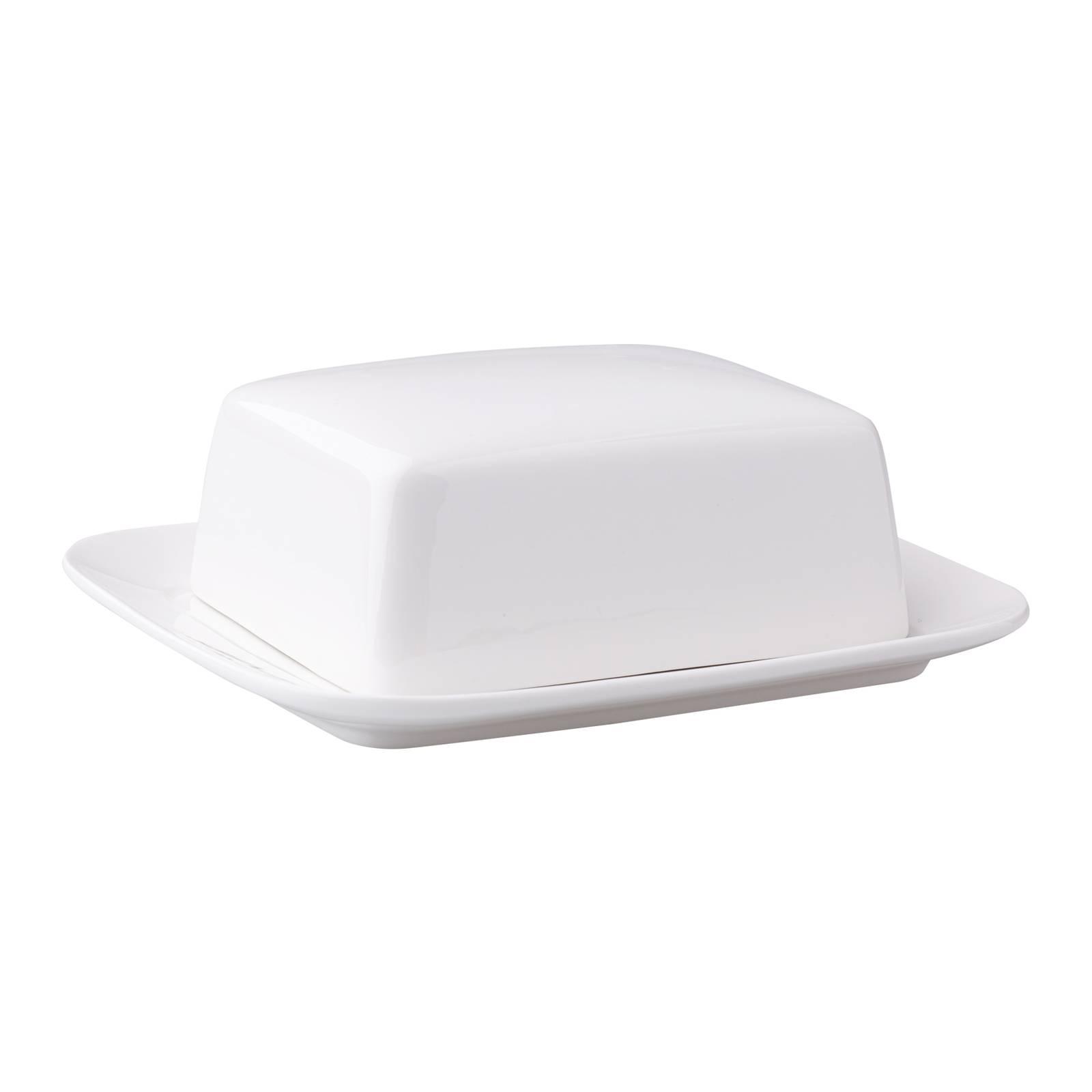 Butterdose Weiss Porzellan  18,8 x 15,6 CM