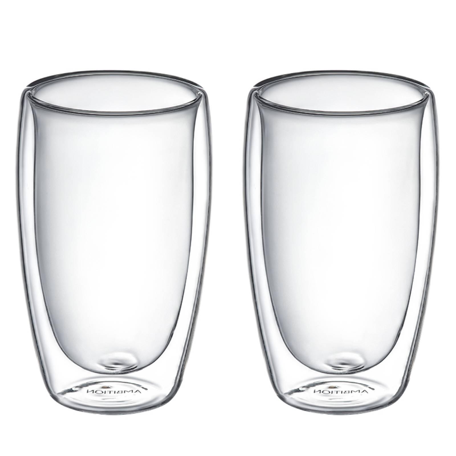 Komplet 2 szklanek termicznych Doble 450 ml AMBITION