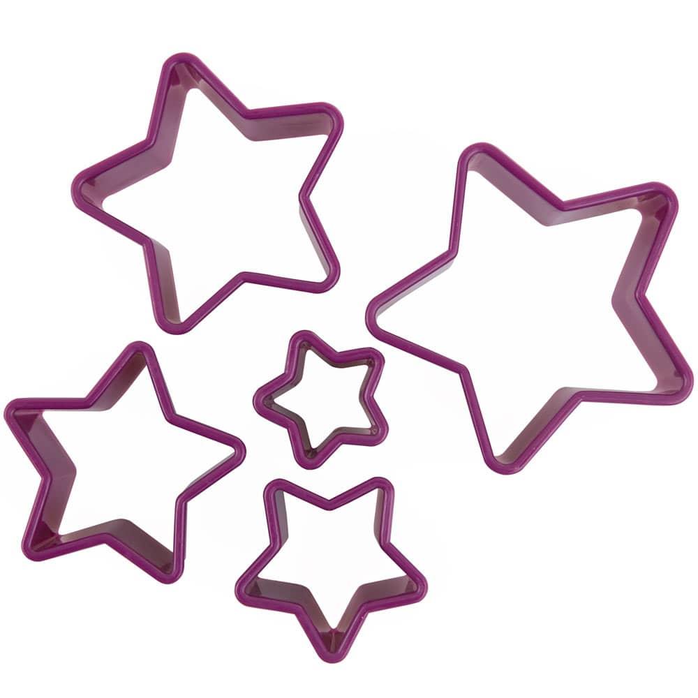 Set de 5 emporte-pièces Glamour rose étoiles AMBITION