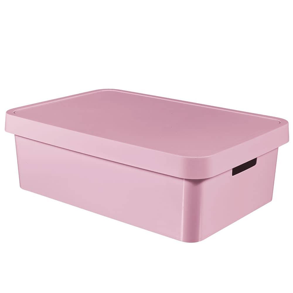 Förvaringslåda med lock 30L Infinity rosa CURVER