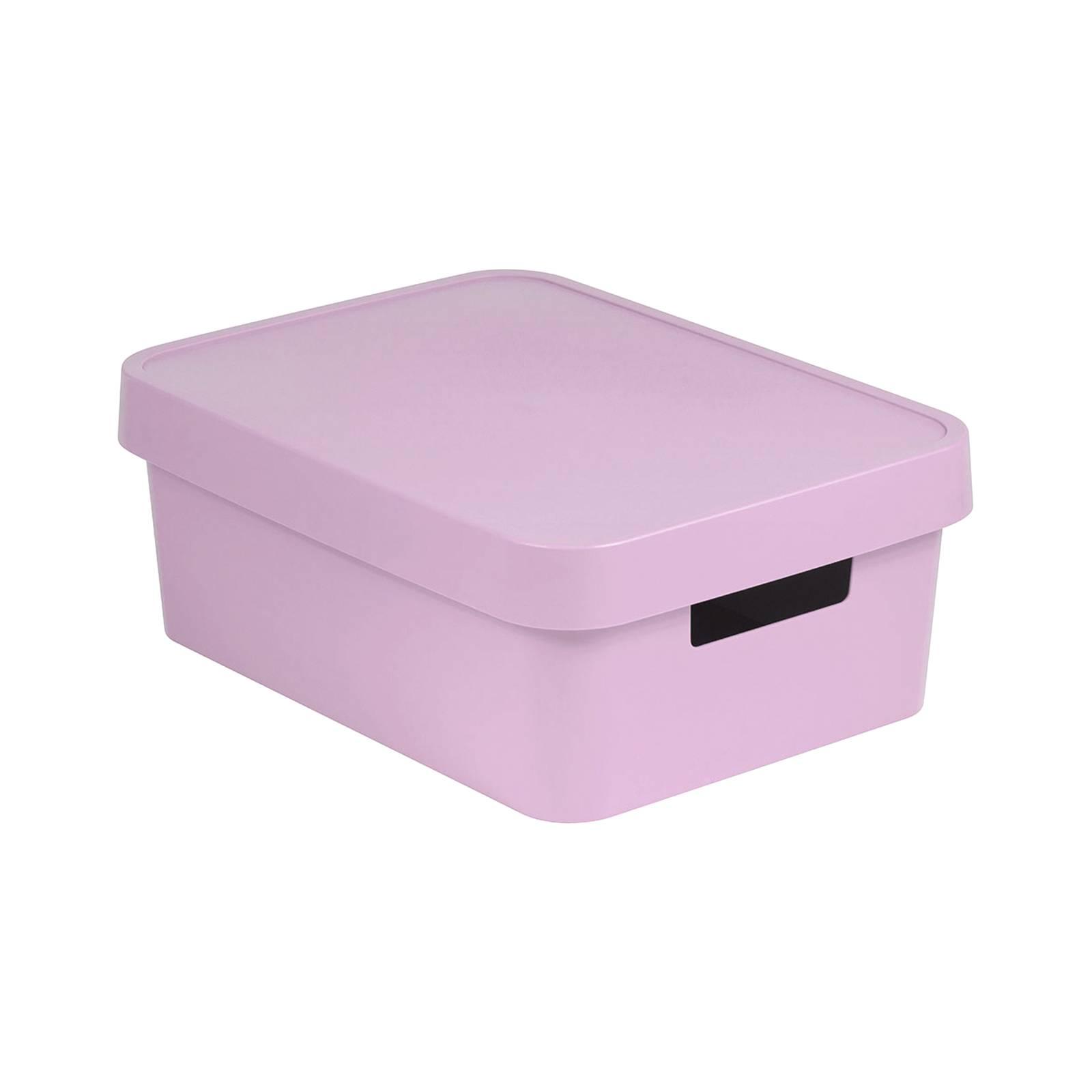 Förvaringslåda med lock 11L Infinity rosa CURVER
