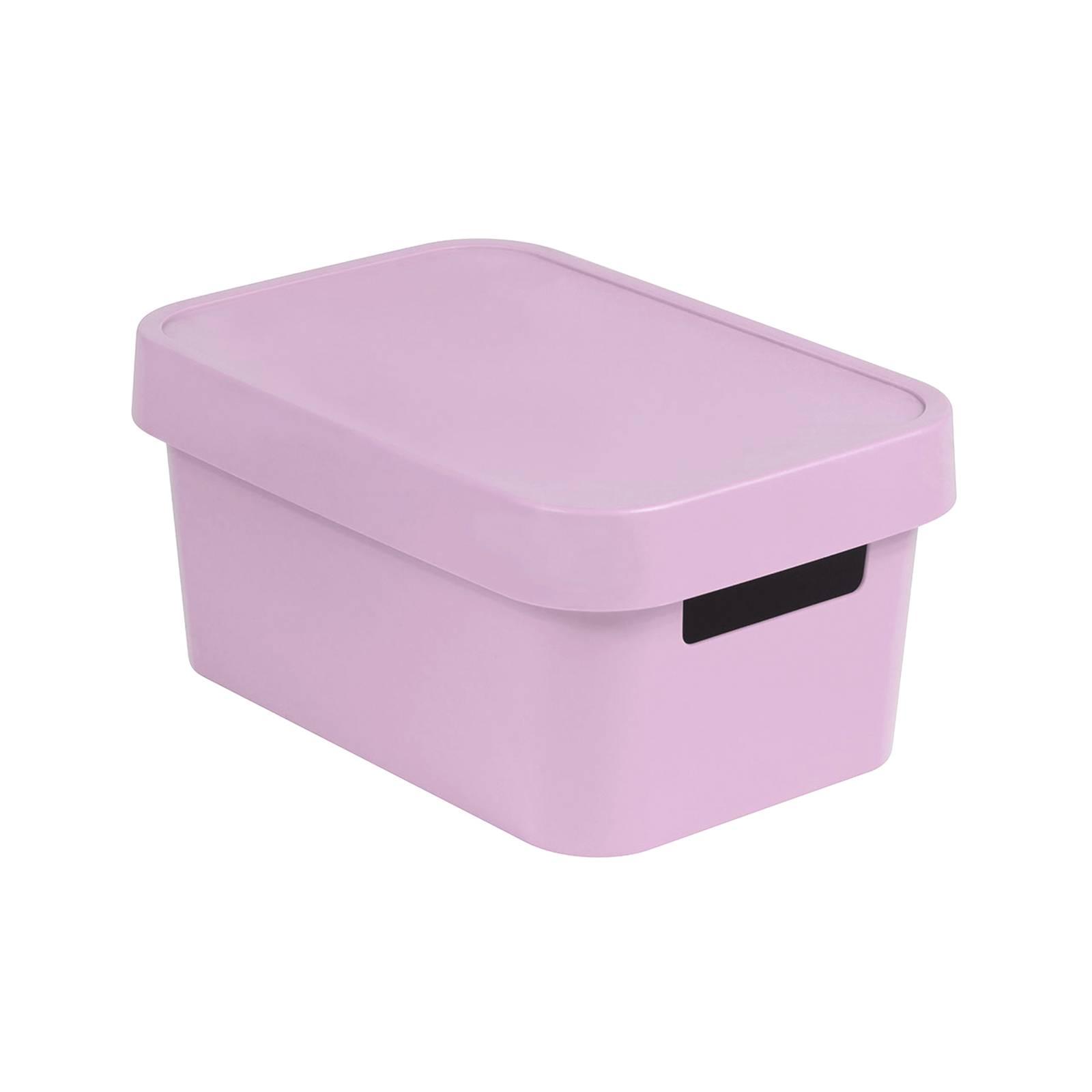 Förvaringslåda med lock 4,5L Infinity rosa CURVER