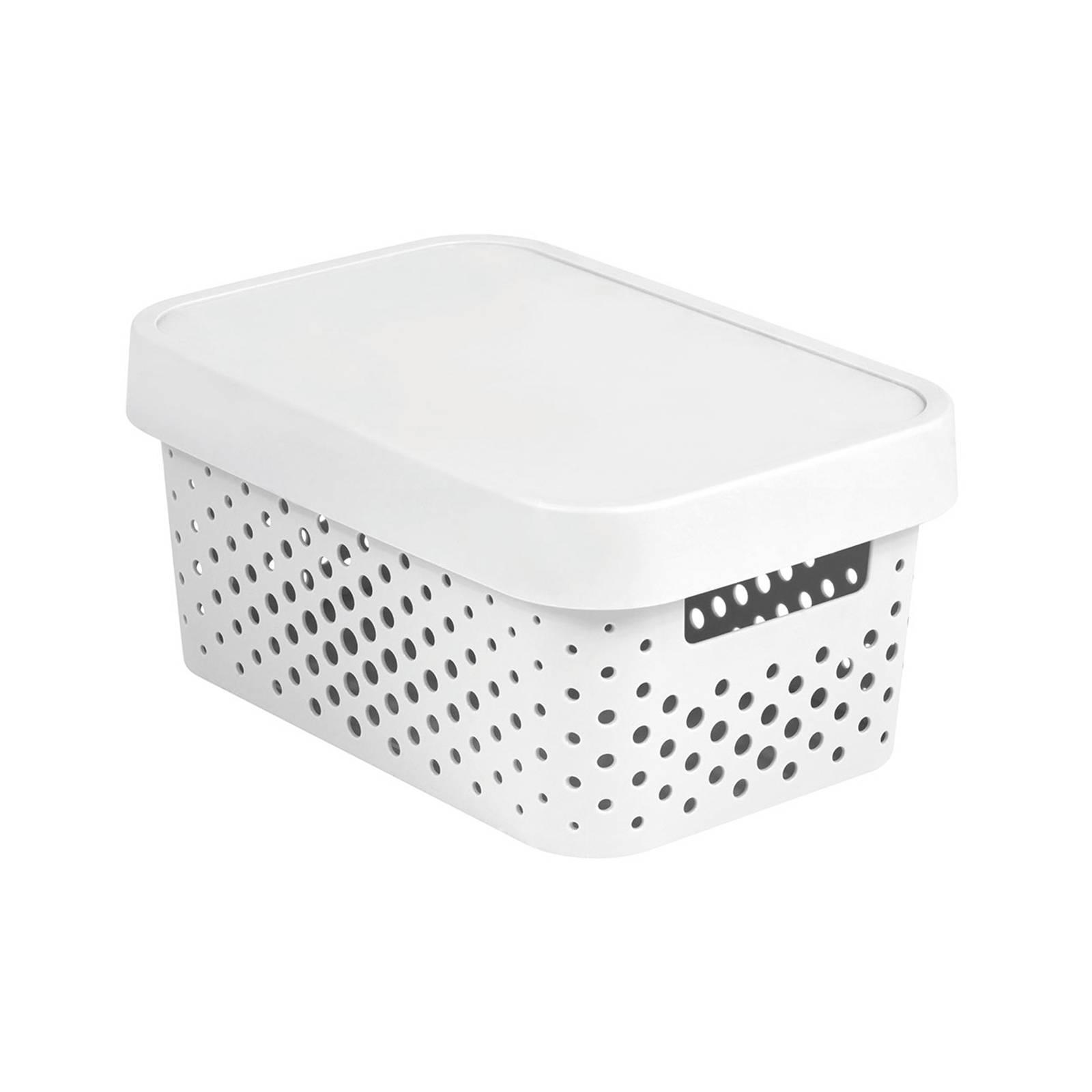 Förvaringslåda med lock genomskinnlig 4,5L Infinity vit CURVER