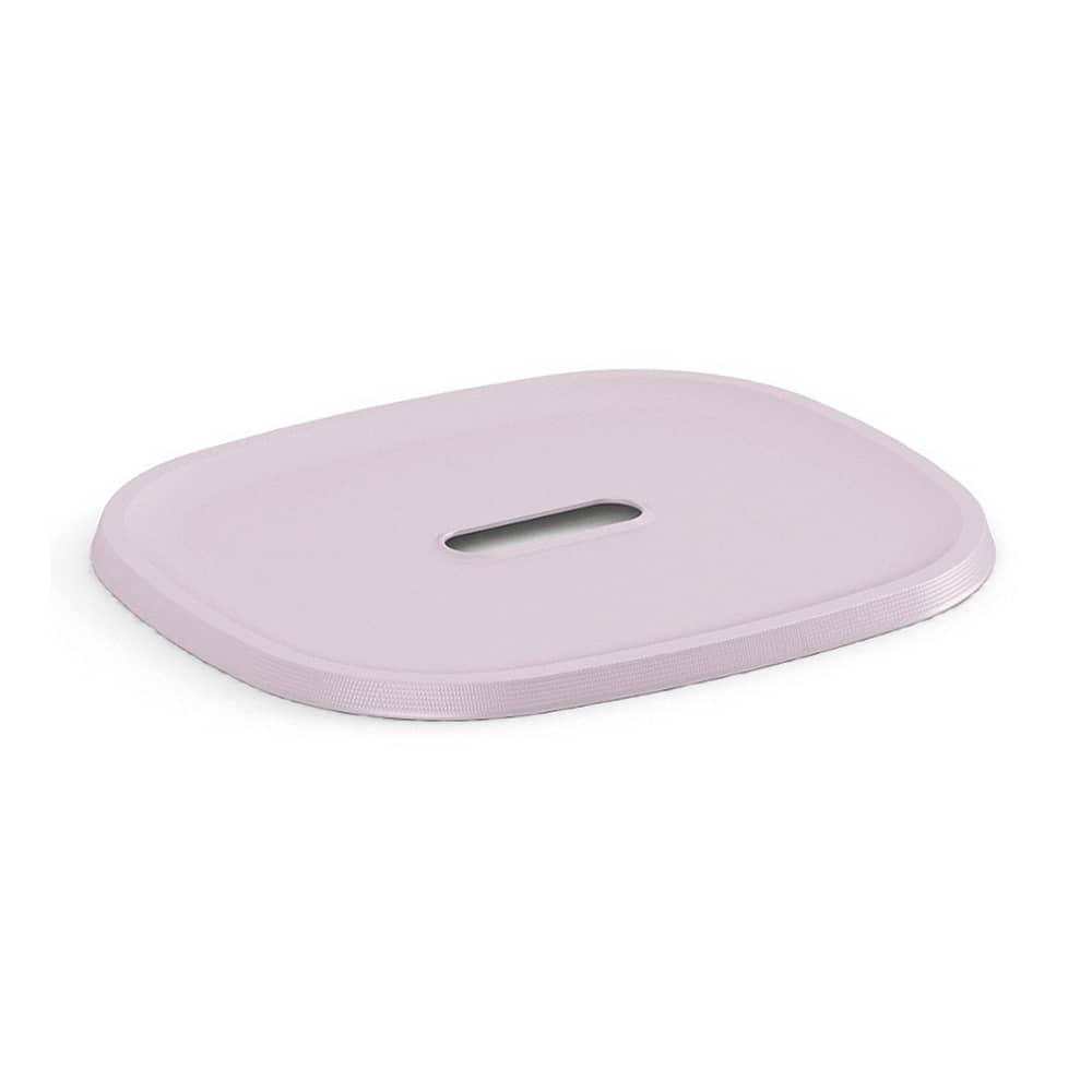 Förvaringskorg lock 27.5 x 23 x 1 cm Filo rosa KIS