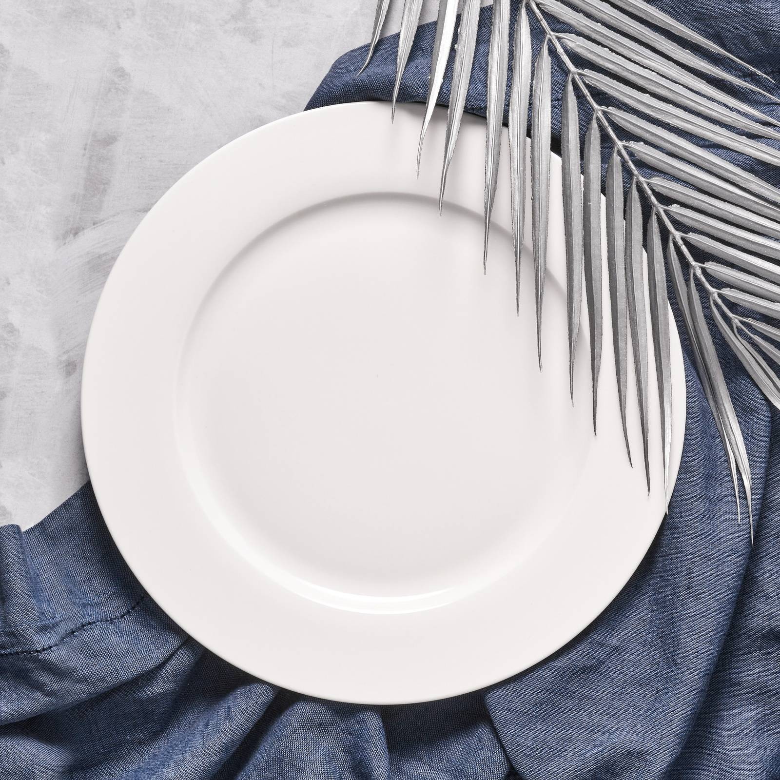 Talerz obiadowy Aura White 27 cm AMBITION