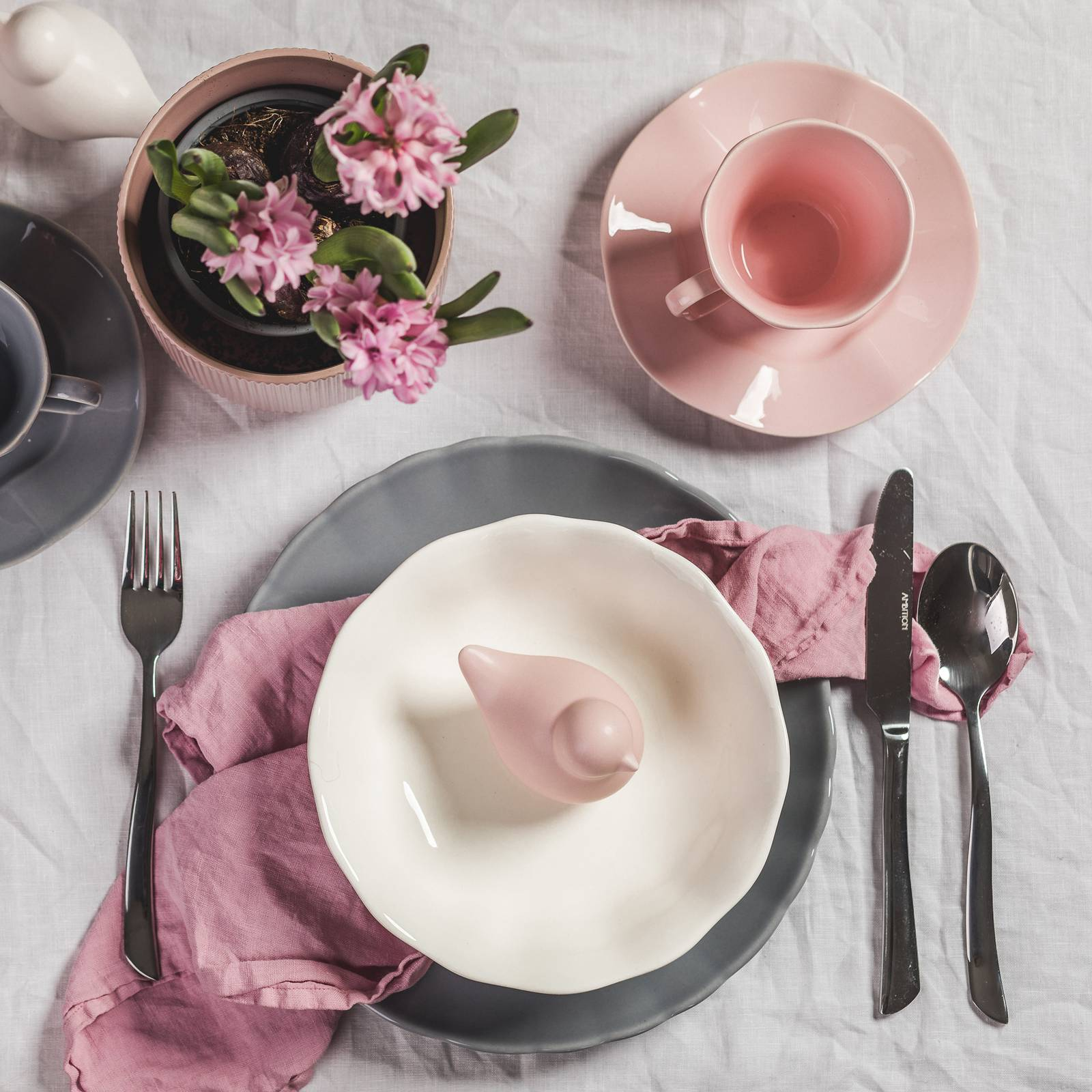 Salaterka / Talerz do zupy Diana Rustic Cream 19 cm AMBITION