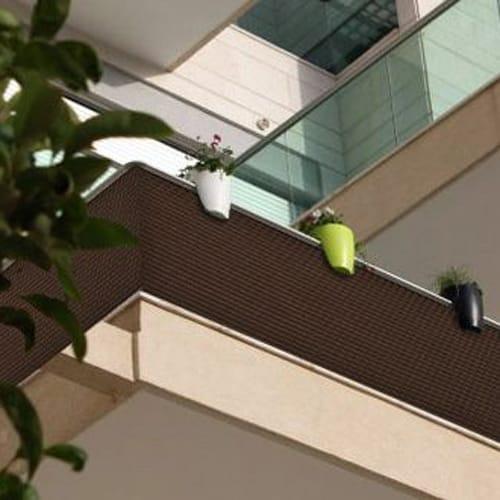 Osłona balkonowa Tress 1,1 x 20 m brązowa PATIO